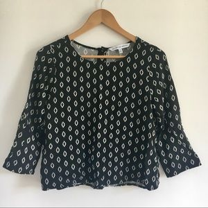 Cupcakes and Cashmere Button Back Top